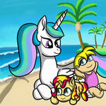 A family moment at the Beach.