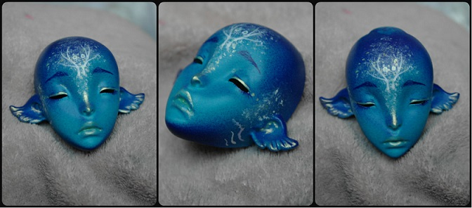 Face-up on our SP ombre head by Atelier-Cynamon