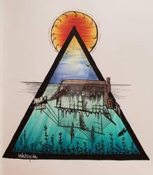 Glassy triangle