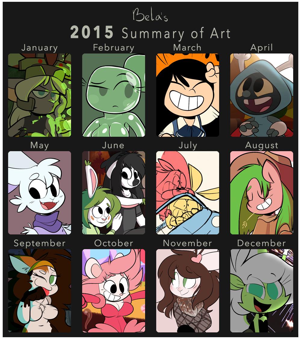 2015 summary of art by Belaboy