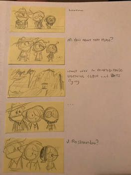 Untitled Halloween Short Storyboards (LINK IN DESC