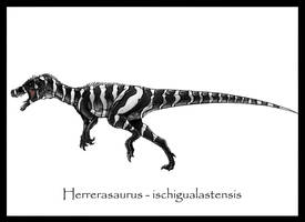 Herrerasaurus Painted by Danillo-Toga