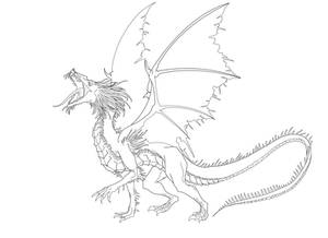 Houlling Dragon Lineart