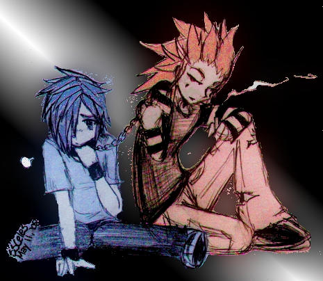 Axel x Zexion by ssceles