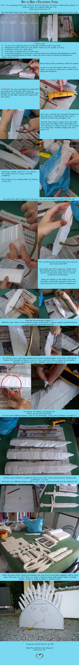 Polystyrene Sword Tutorial by CalamityJade