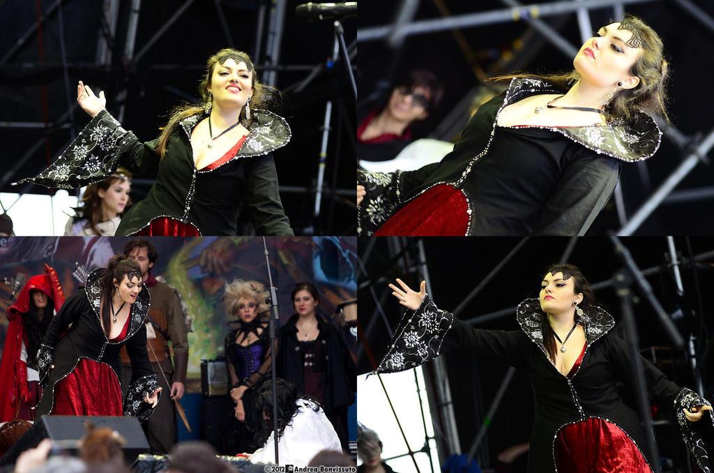 Regina on stage by CalamityJade