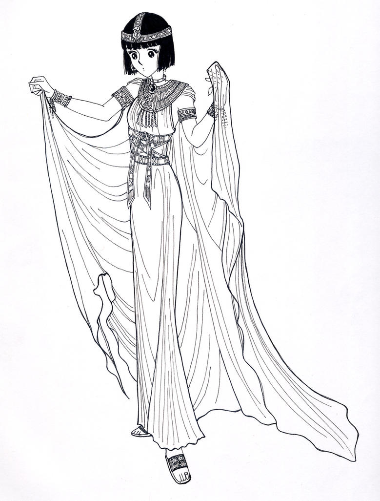 egyptian queen drawing - photo #6