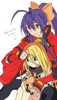 Blazblue Variable Heart - Mai Natsume and Bell by Tailgate04