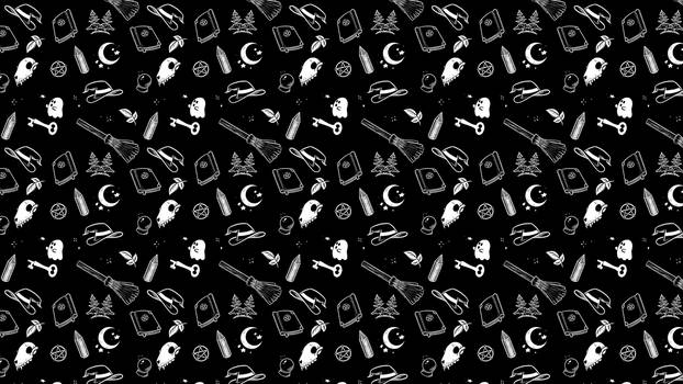 Witchy Tiled Background