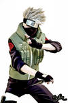 Cartoon style Kakashi cosplay