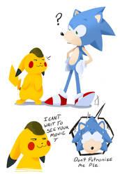 Pikachu and Sonic  by HiImThatGuy