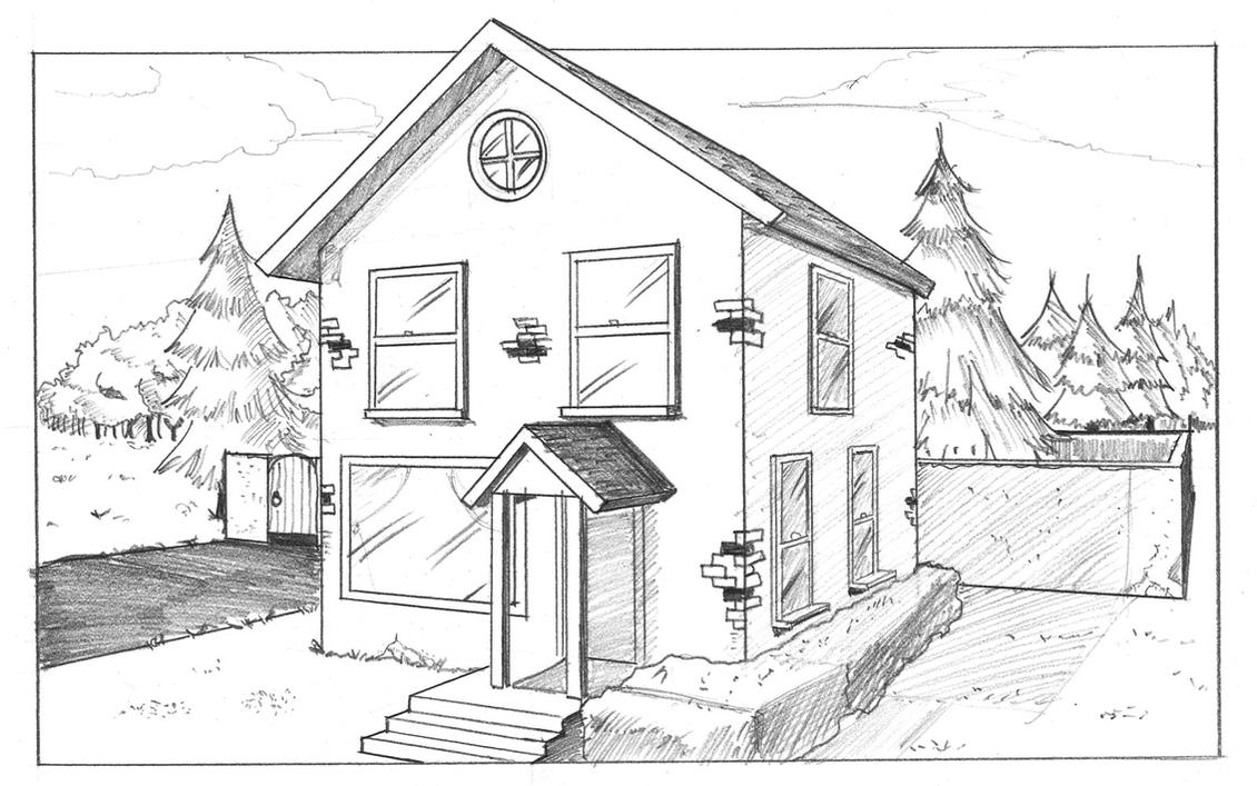 Sketchbook homework mrs brown 39 s art room for Exterior house drawing