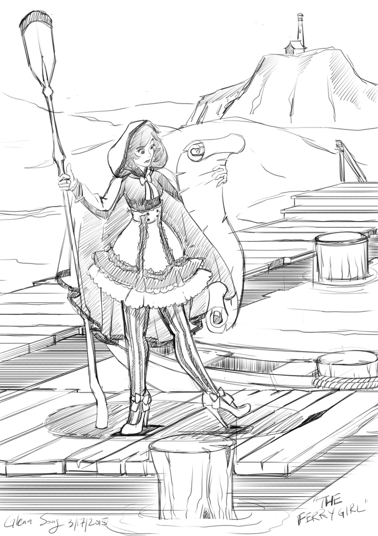 The Ferrygirl sketch by AlbinoGrimby