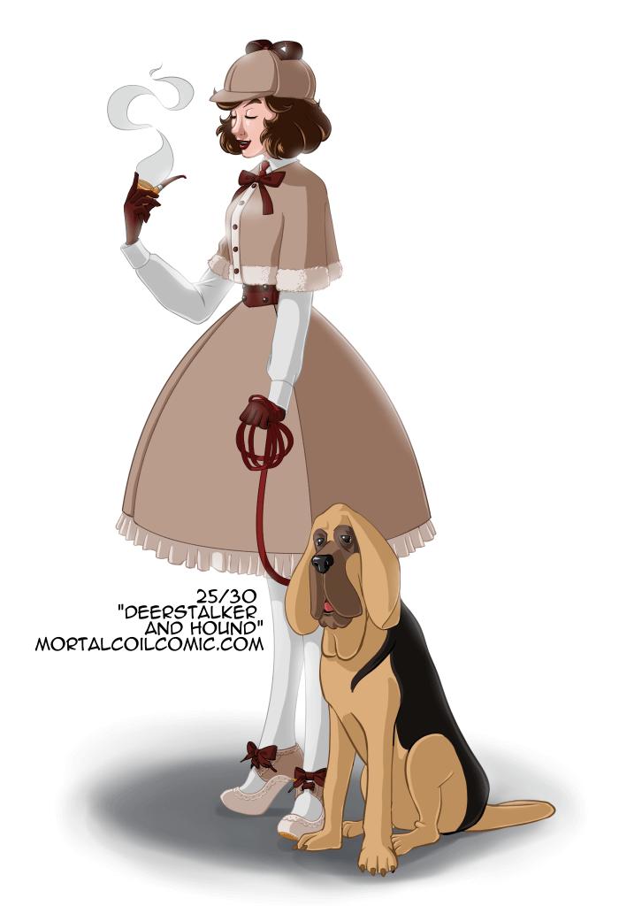 25/30 Deerstalker and Hound by AlbinoGrimby