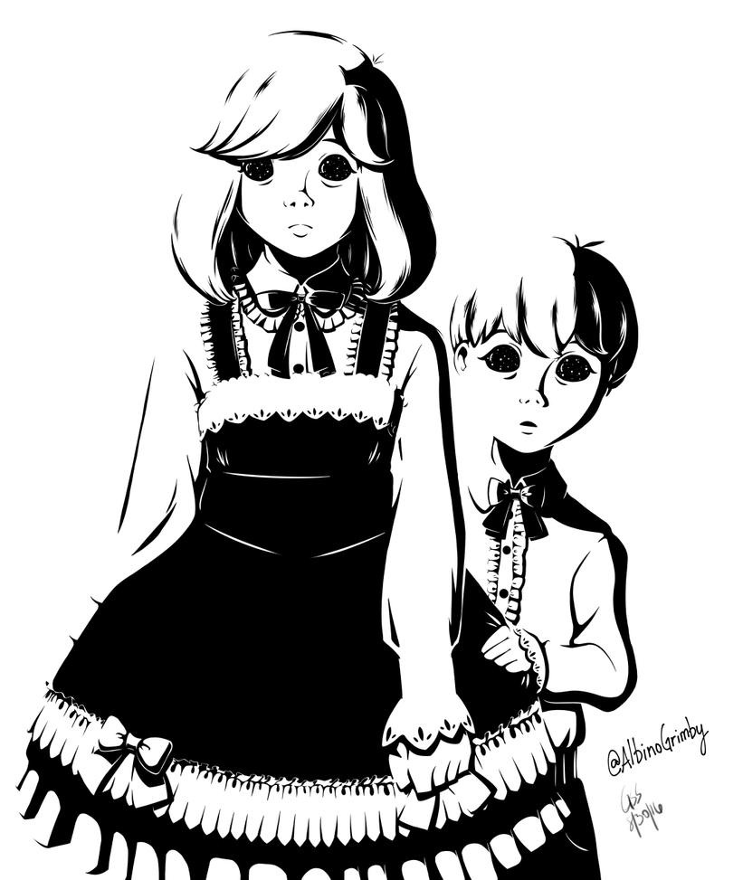 Darkeye Siblings Painted by AlbinoGrimby
