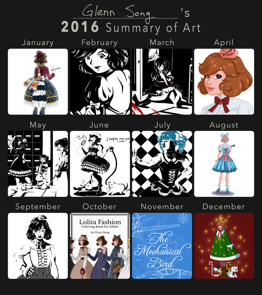2016 Summary of Art by AlbinoGrimby