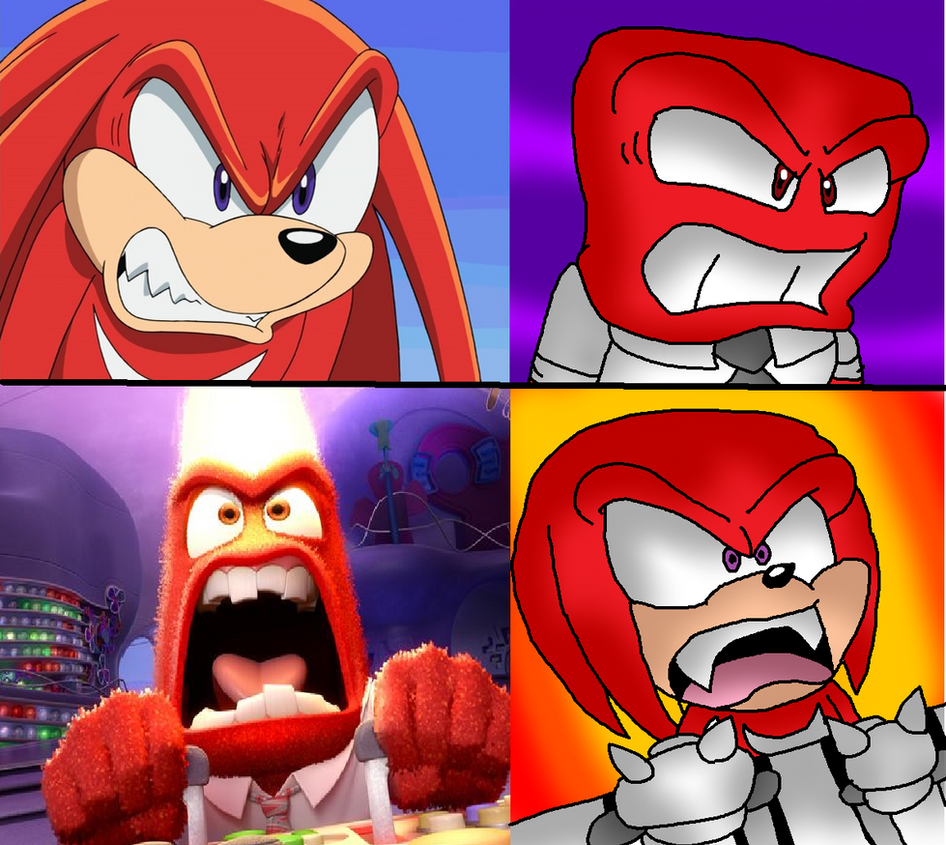 Fotos Do Sonic X for sonic x inside out: anger and knucklessonicfazbear15 on deviantart