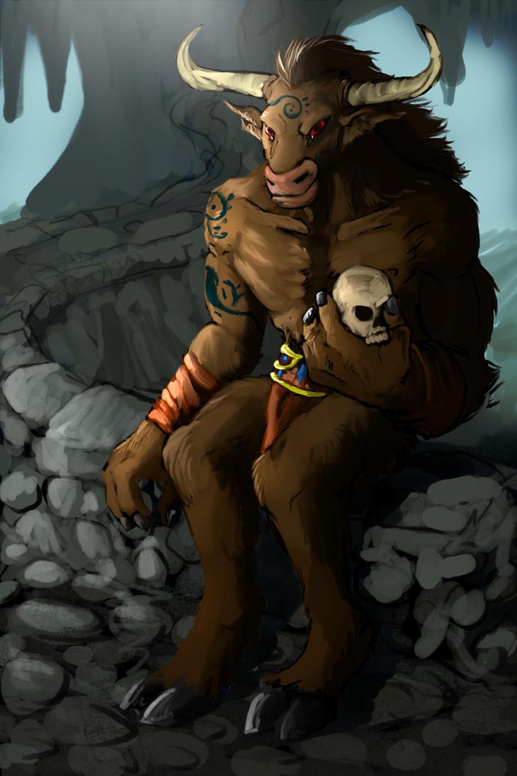 Young minotaur by R-Daza