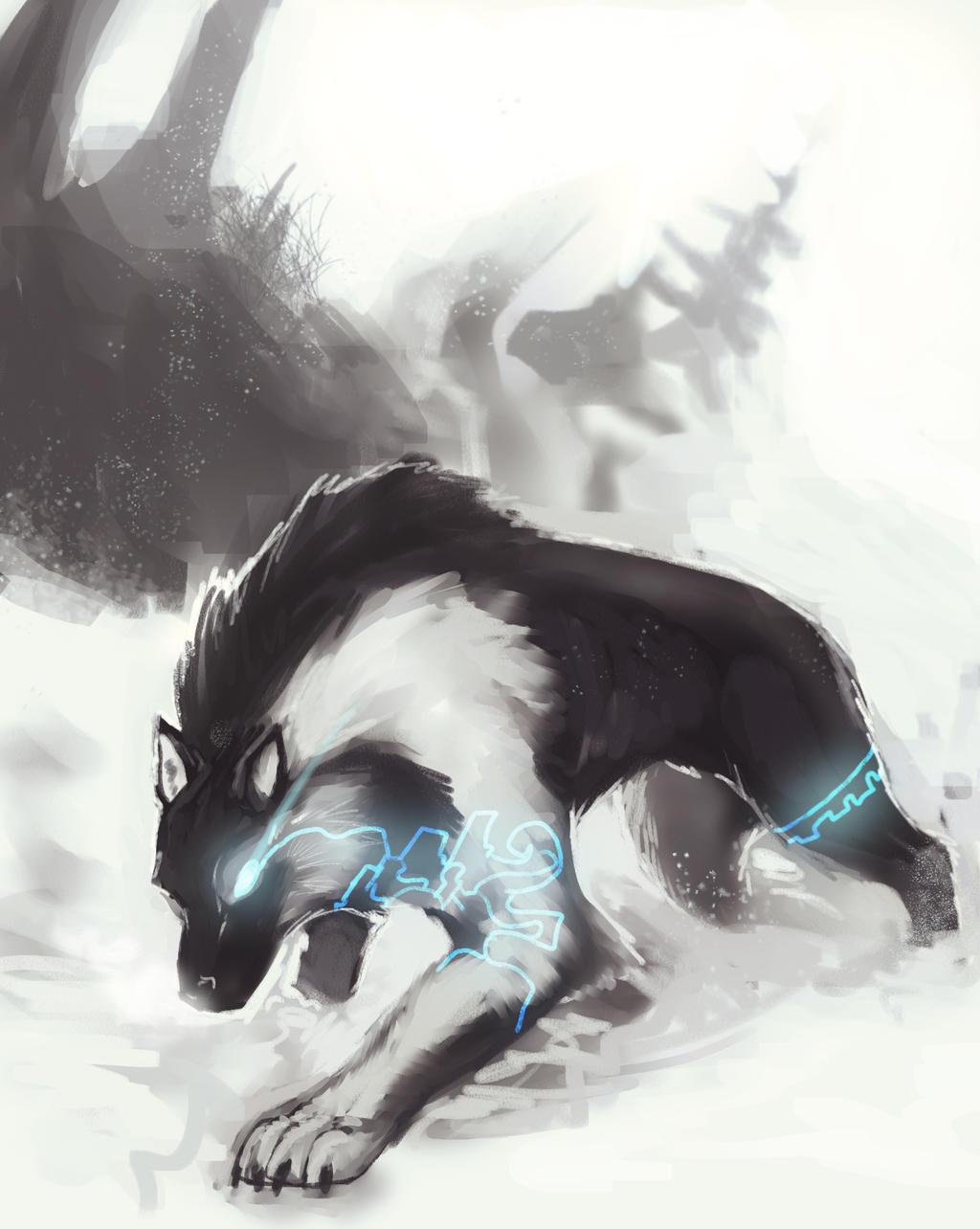 TP Wolf Link concept art