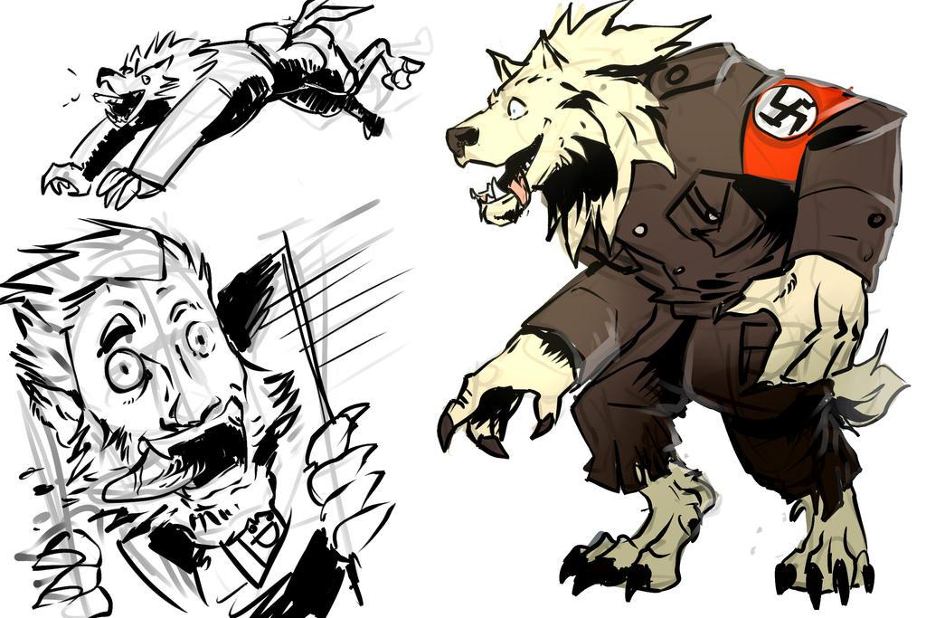 A German Werewolf in France - Hans by Bittergeuse