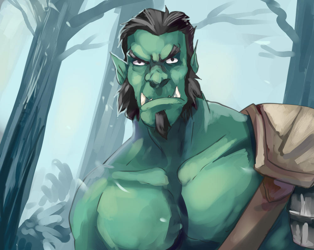 Orc in da woodz by Bittergeuse