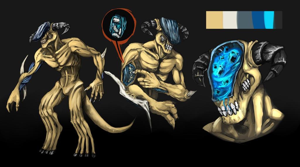 Monster ref sheet by R-Daza