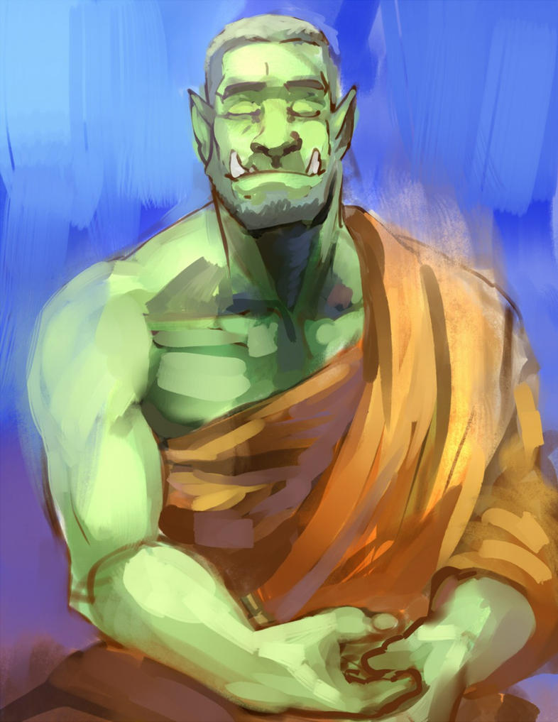 Chill Orc by R-Daza