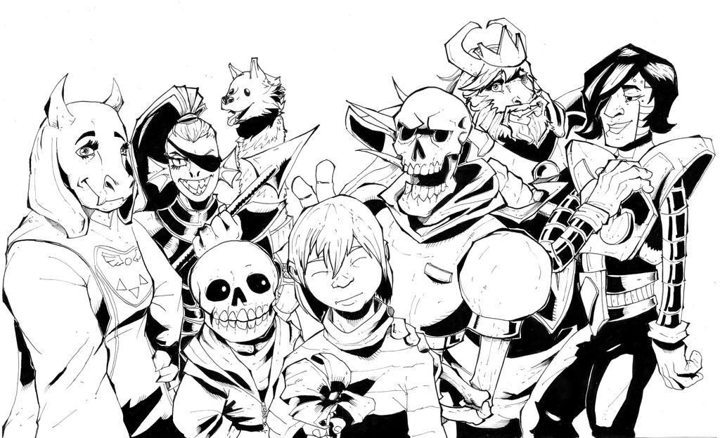 Undertale inks by R-Daza