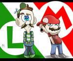 Mario and Luigi (Hotdiggedydemon)