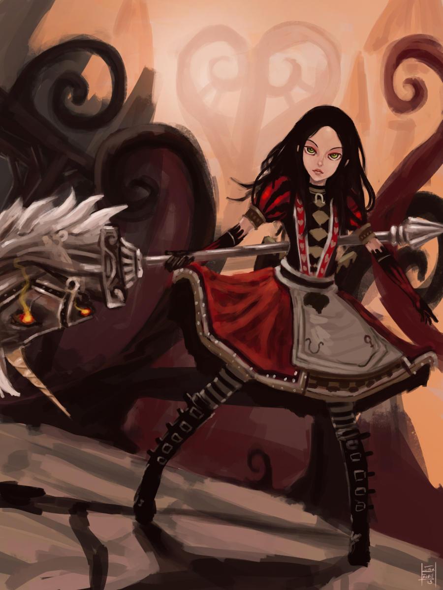Alice in wonderland by ThexArtxOfxLuxifer
