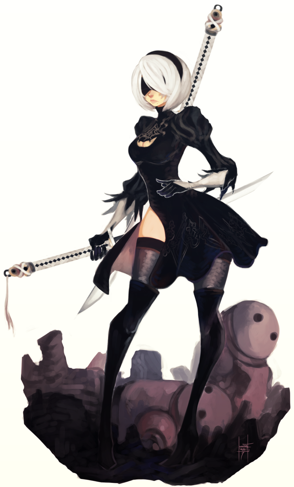 Type B Anime Characters : Yorha no type b by xluxifer on deviantart
