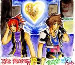Sora and Neku collaboration by zidane09