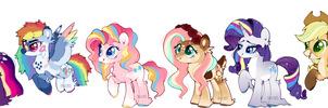 mane six redesign | mlp