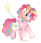 super duper party pony | mlp by foxklt