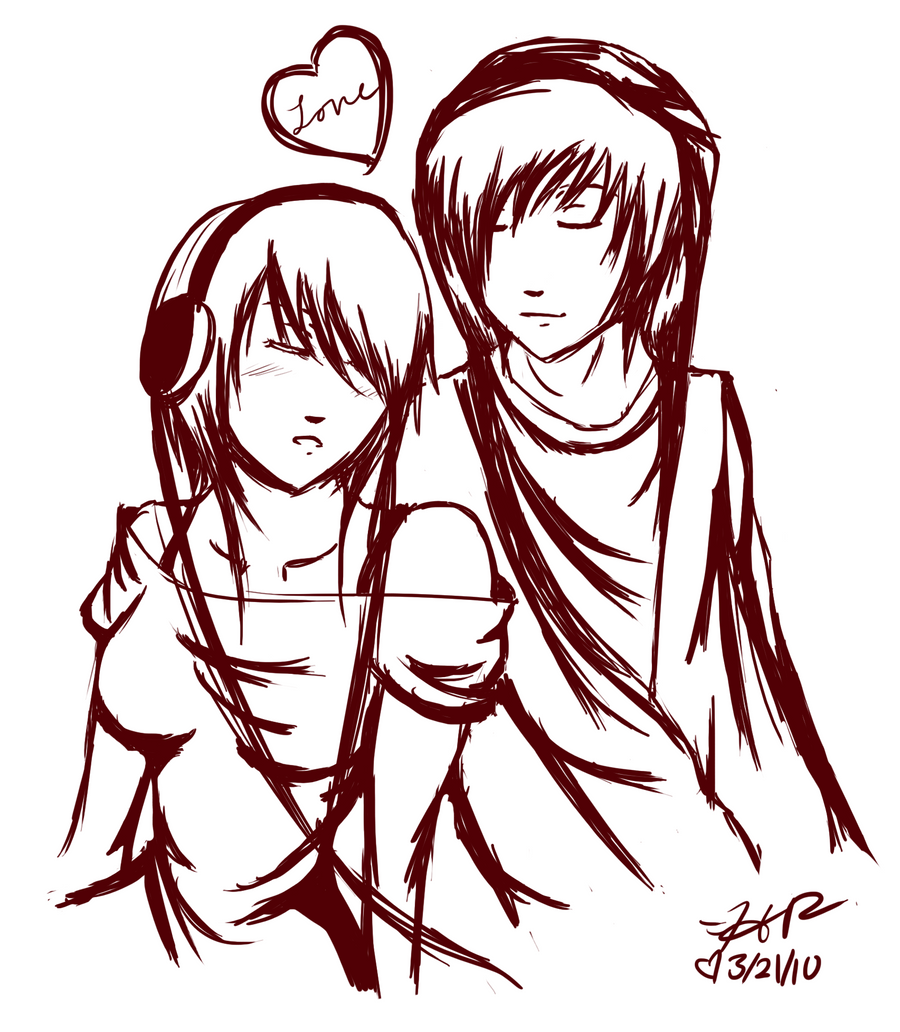 emo couples coloring pages - photo#9