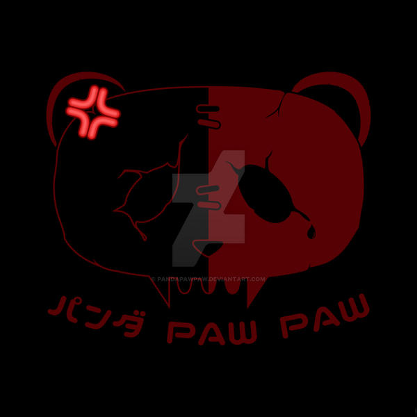 Angry Symbol Panda Paw Paw Design by PandaPawPaw