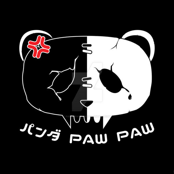 Angry Symbol Panda Paw Paw Design White By Pandapawpaw On Deviantart