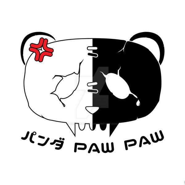 Angry Symbol Panda Paw Paw Design (Black) by PandaPawPaw