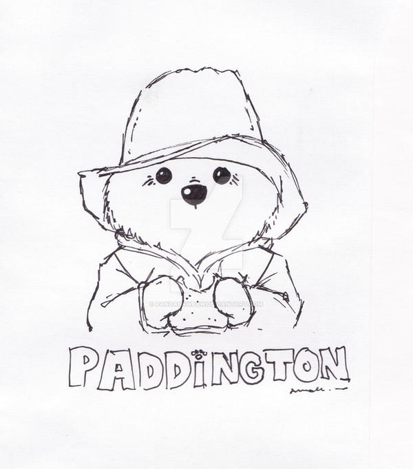 Paddington Bear Doodle by PandaPawPaw