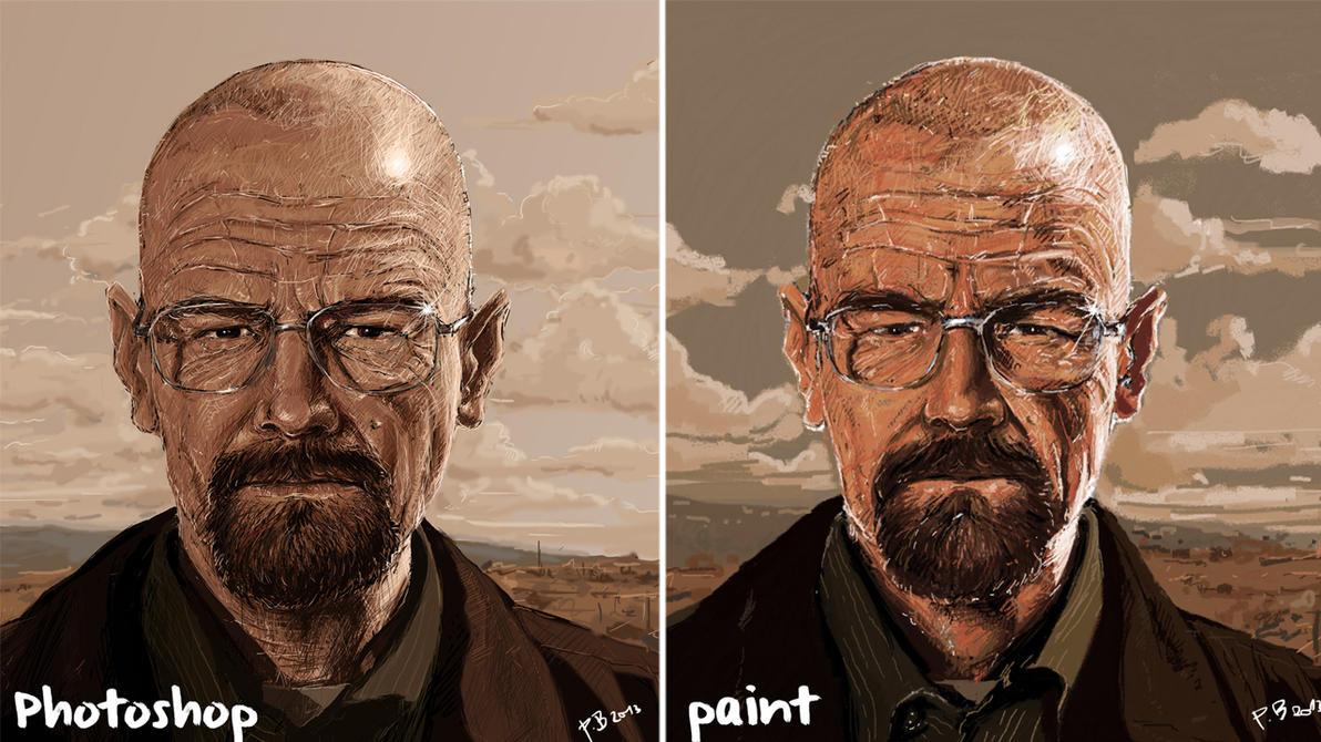 Breaking Bad Photoshop Vs Paint 1280x720 By Bobanpesov