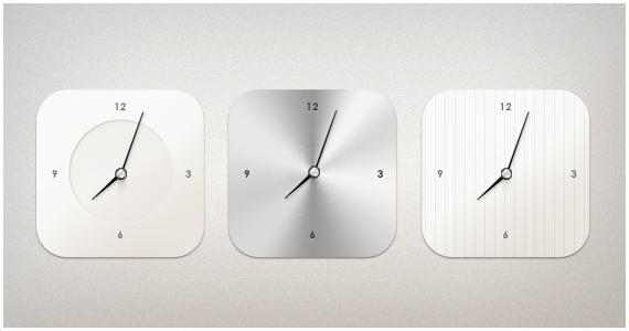 Modern Clock by PSDchat