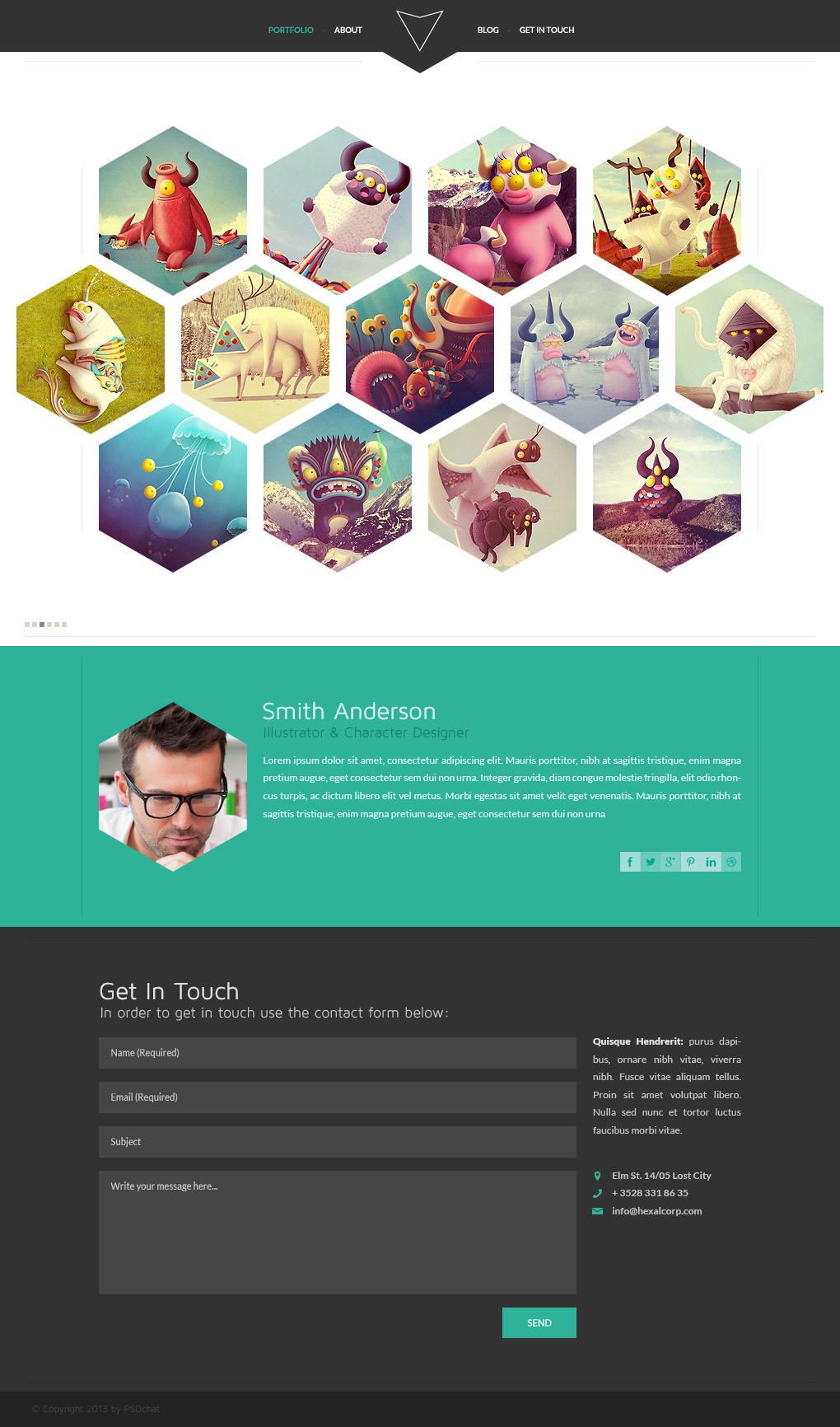 Hexal: Single Page Portfolio Template by PSDchat on DeviantArt