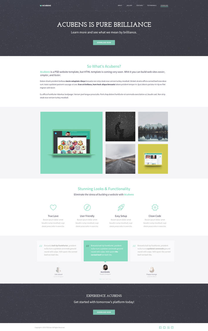 Free Website Template: Acubens by PSDchat