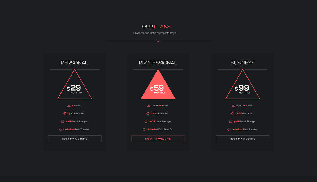 Freebie // UI Element: Minimal Pricing Table by PSDchat