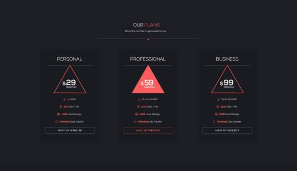 Freebie // UI Element: Minimal Pricing Table