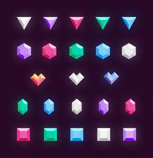 Freebie // Icons: Gems And Diamonds