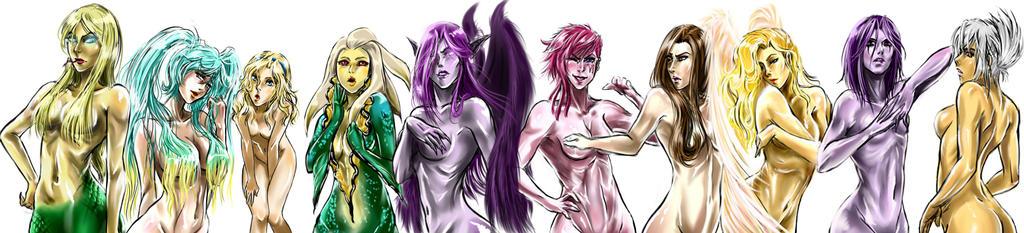 Secound 10 League Girls by asa94