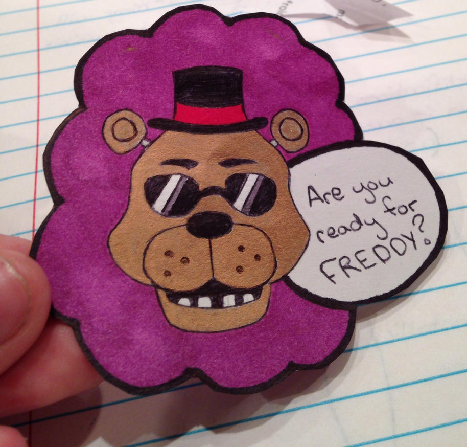 Freddy Sticker by Yume-The-Lynx