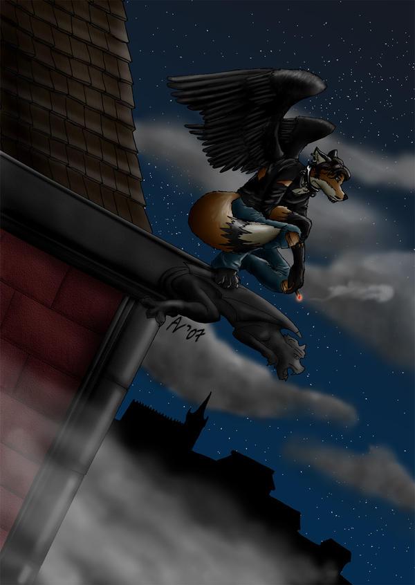 The Vulpine Fallen Angel by VulpinePilot