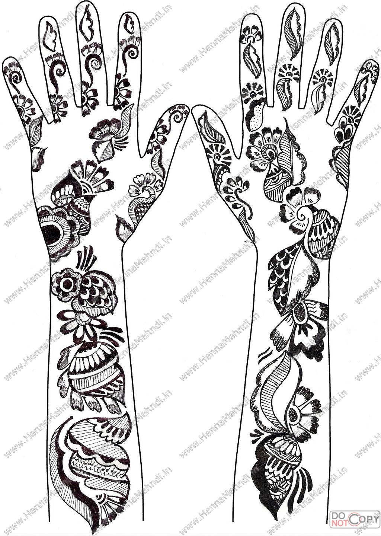 Coloring pages of mehndi hand pattern -  Henna Mehndi Designs 7 By Hinasabreen
